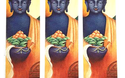 Art Bookmarks – Healing Buddha Set of 3