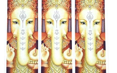 Art Bookmarks – Ganesha – Set of 3