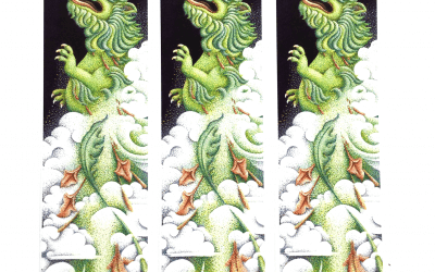 Art Bookmarks – Dragon – Set of 3