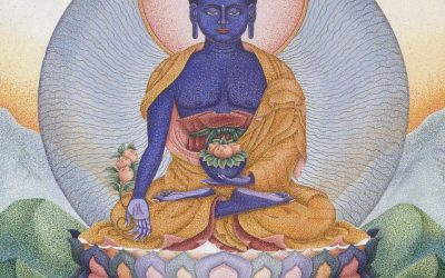 King of Lapis Lazuli Radiance: The Medicine Buddha